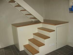 escalier blanc-frene